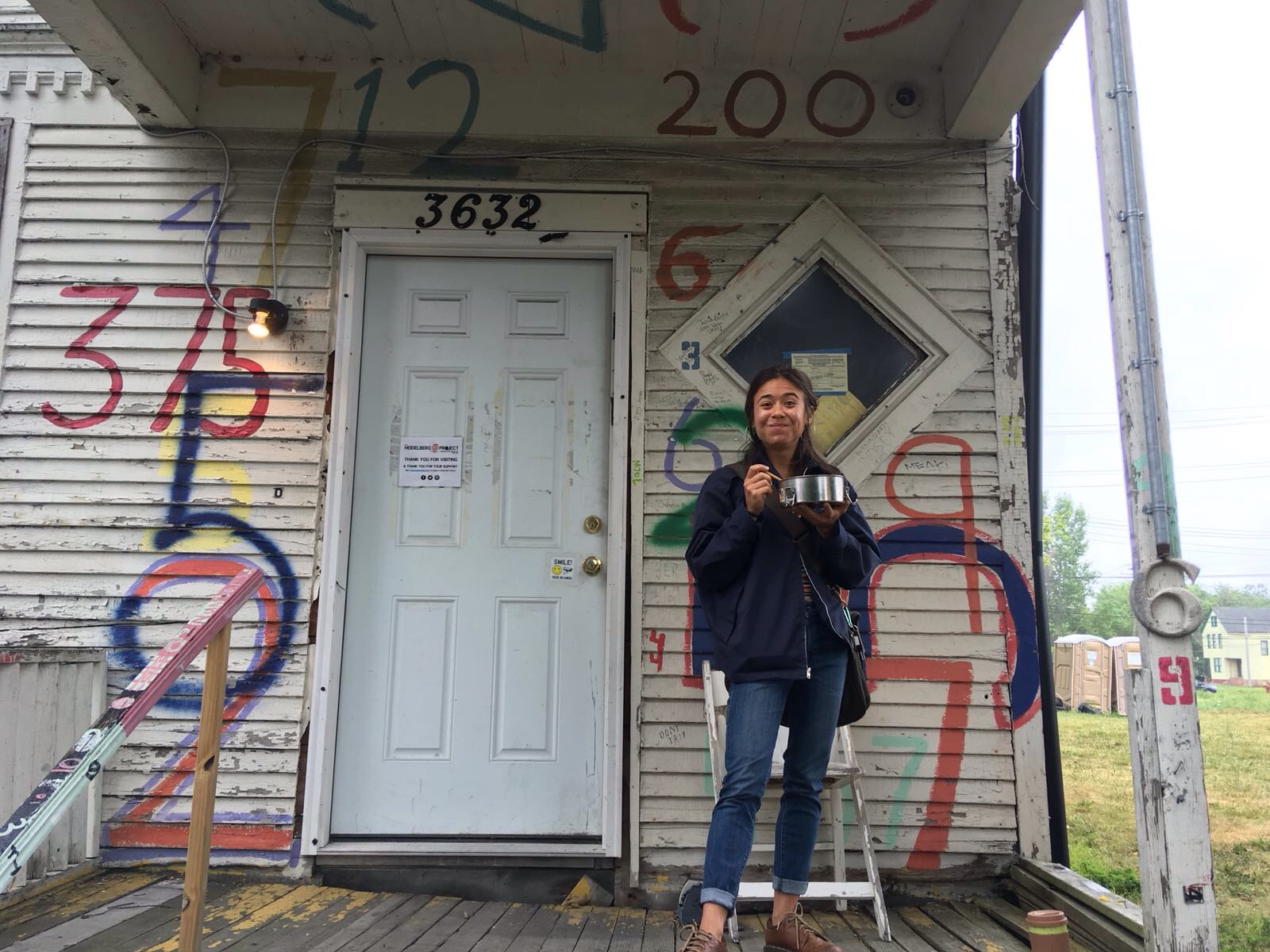 At the Heidelberg Project.
