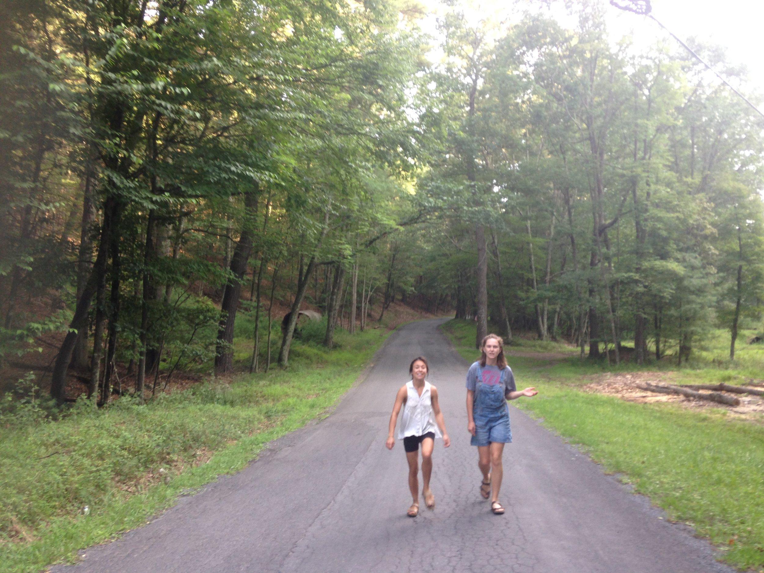 Strolling in West Virginia.