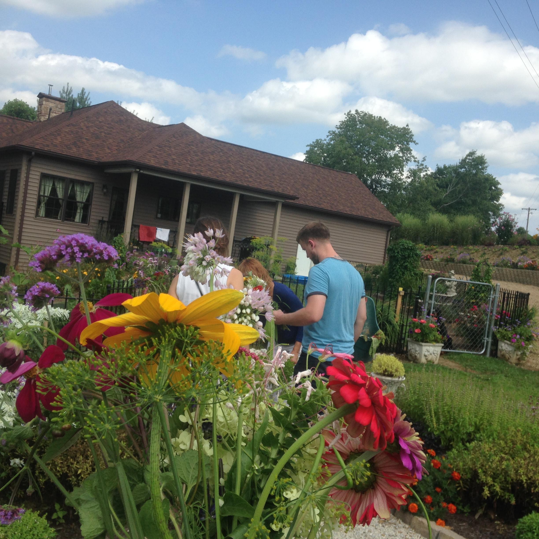 Beautiful flowers from Ben's Aunt's beautiful garden in Carrollton, OH.