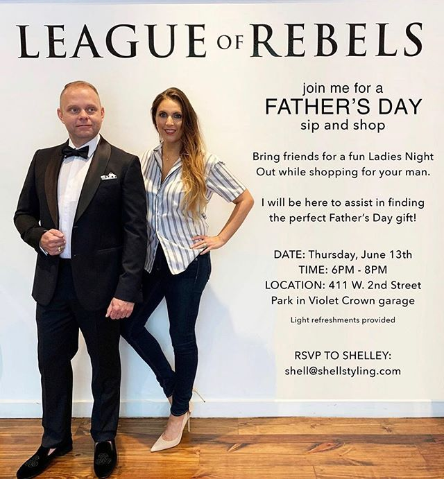 Join me tonight at @leagueofrebels from 6 – 8. sip and shop; find the perfect Father's Day gift for the Father(s) in your life.