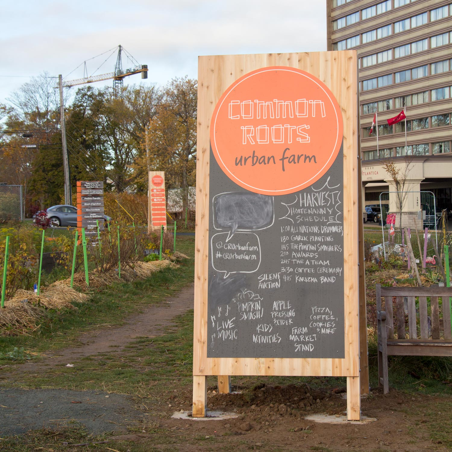 COMMON ROOTS URBAN FARM Chalkboards make it easy for the farm to communicate always-fresh information to visitors.