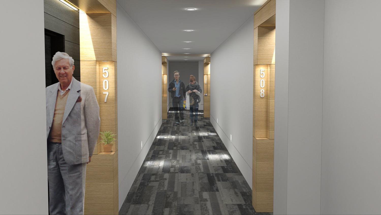 HALLWAY Suite entry design.