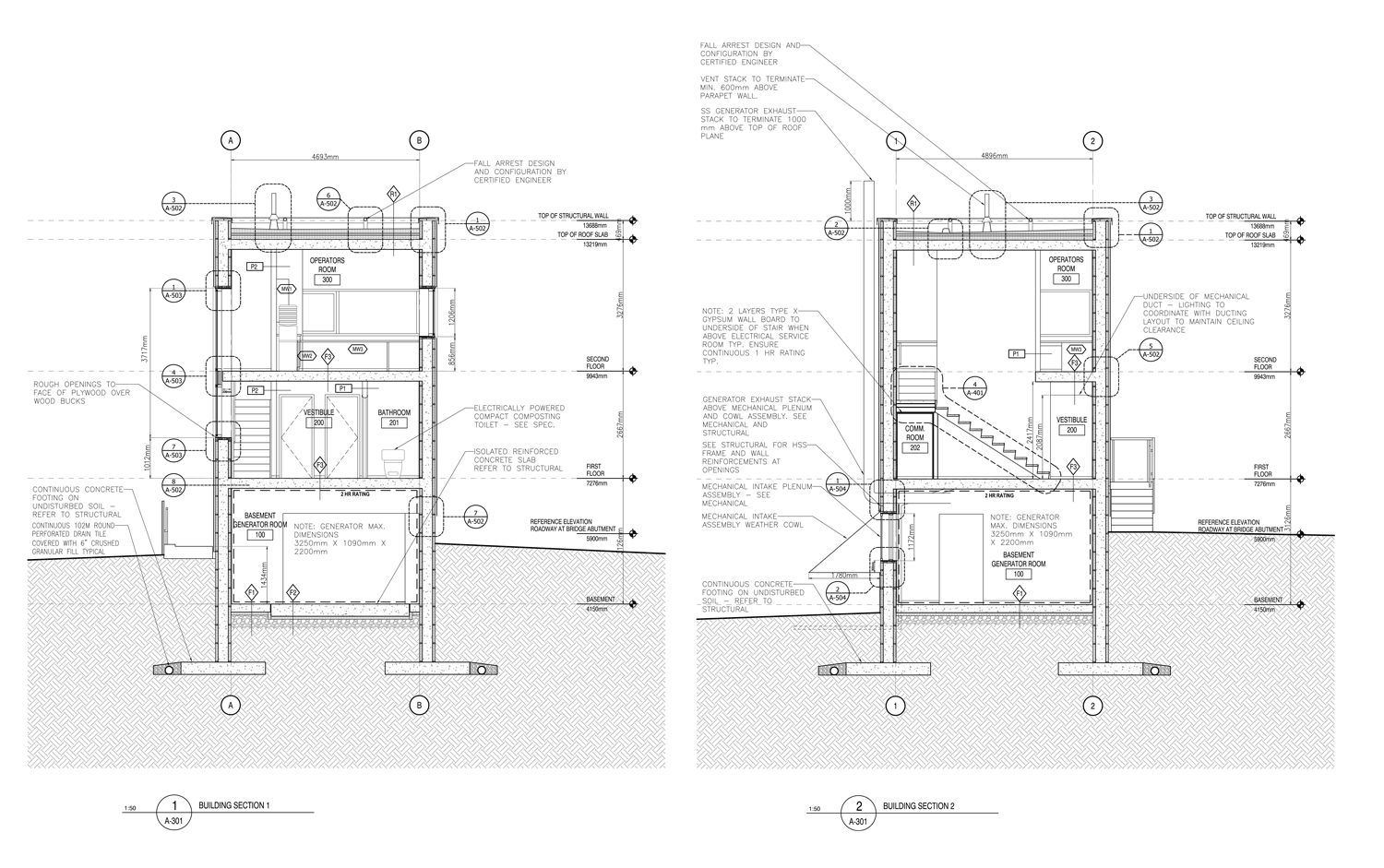 CONSTRUCTION DRAWINGS Sections.