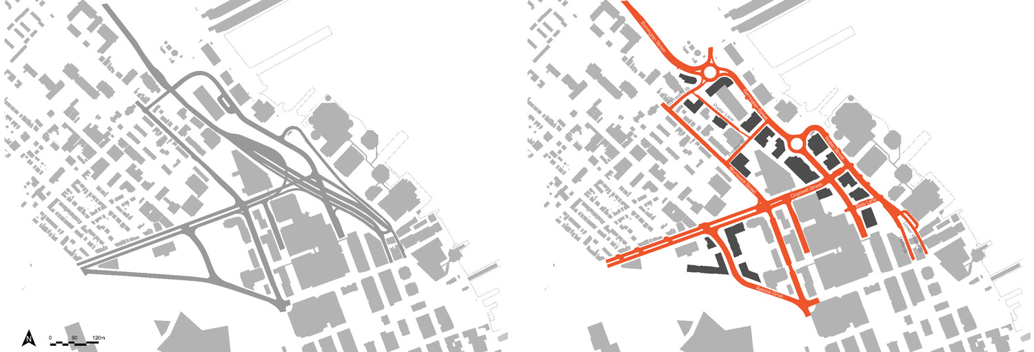 Existing vs Proposed road network