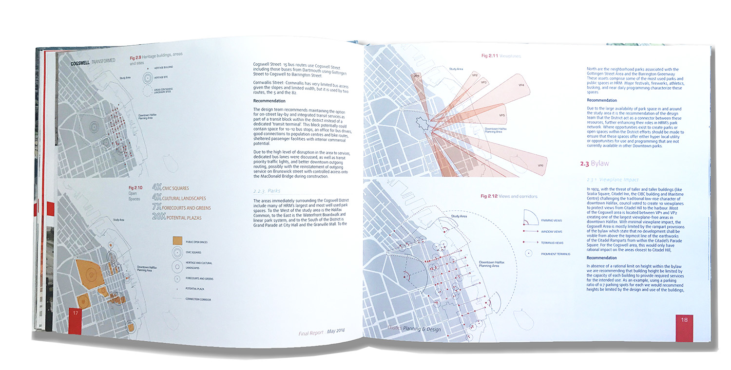 (left) Review of Heritage Sites and Open spaces (right) Viewplanes and View Corridors and by-law recommendations relating to both
