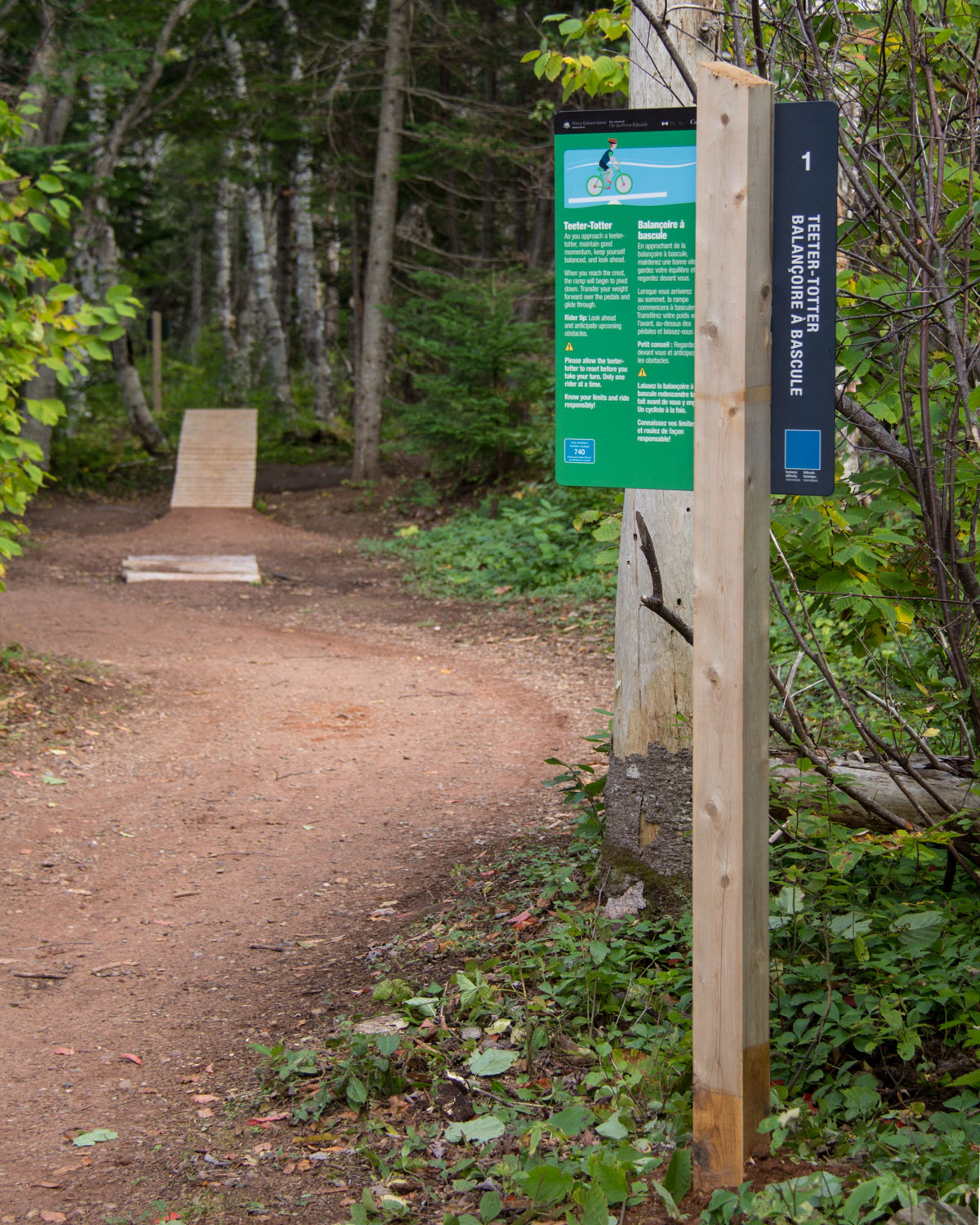 MOUNTAIN BIKE FEATURES The 12 technical trail features are clearly marked with instructions at each entrance. These features are designed to challenge beginner to intermediate mountain bikers.