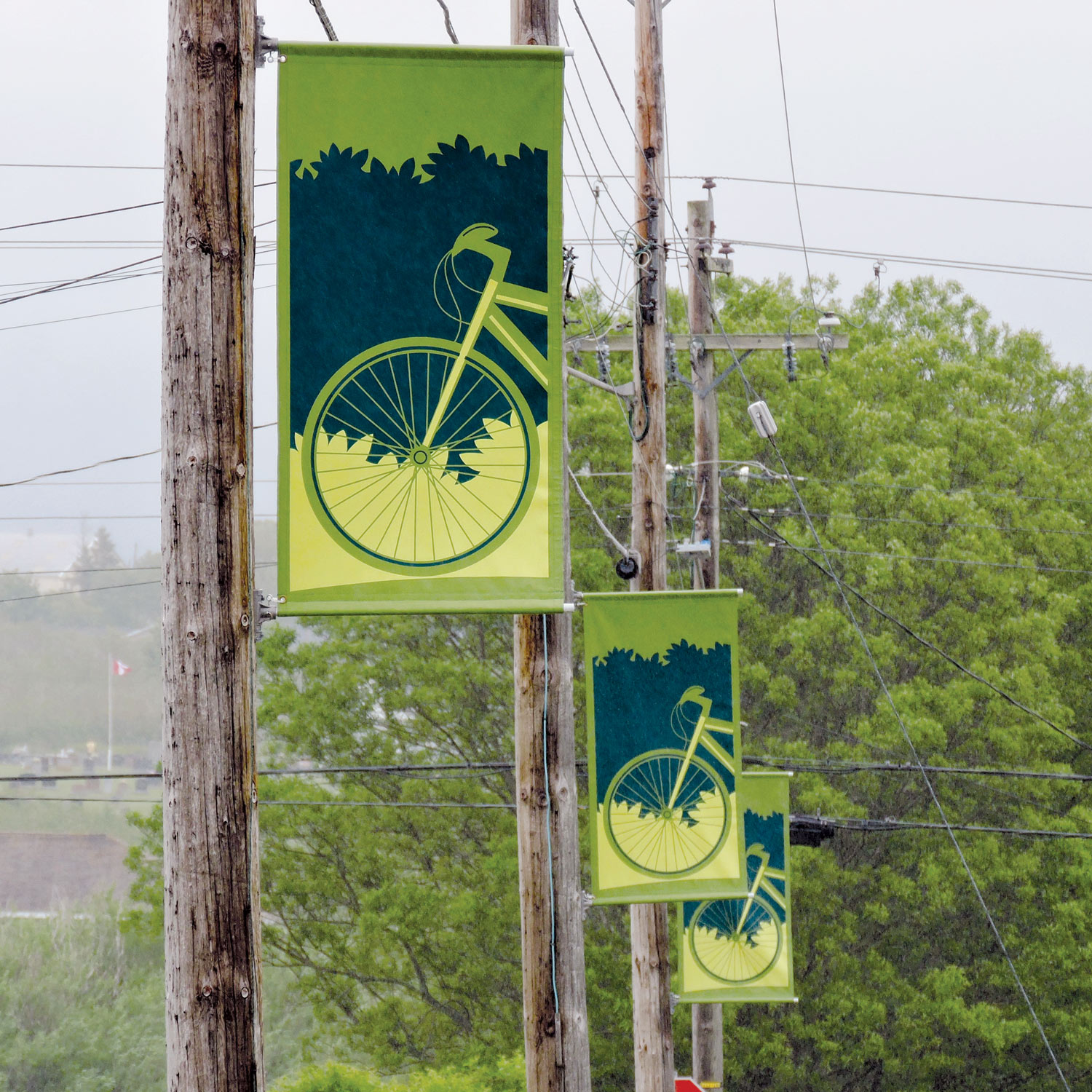 DISTRICT BOUNDARY BANNERS To mark the perimeters, we designed three banners for each of the districts: historic houses district; recreation zone; and historic waterfront.