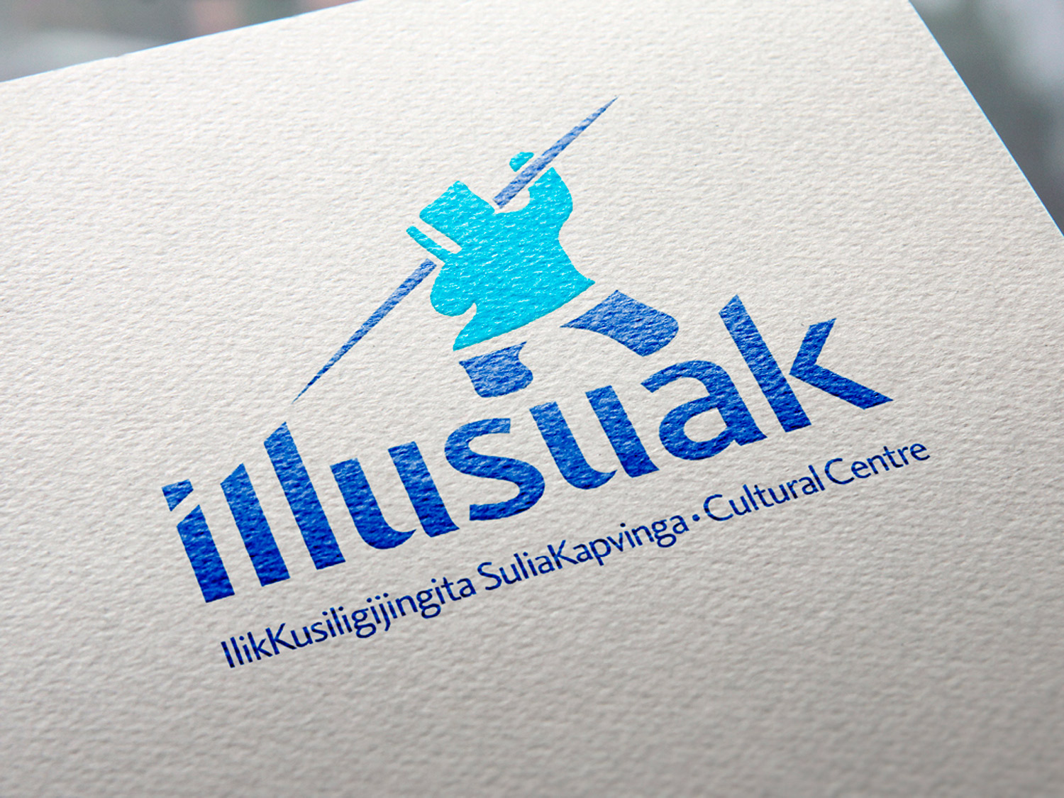 LOGOTYPE The resulting logo positions Inuit heritage as the hero of the identity, referencing thehunter-gatherer culture of the region.
