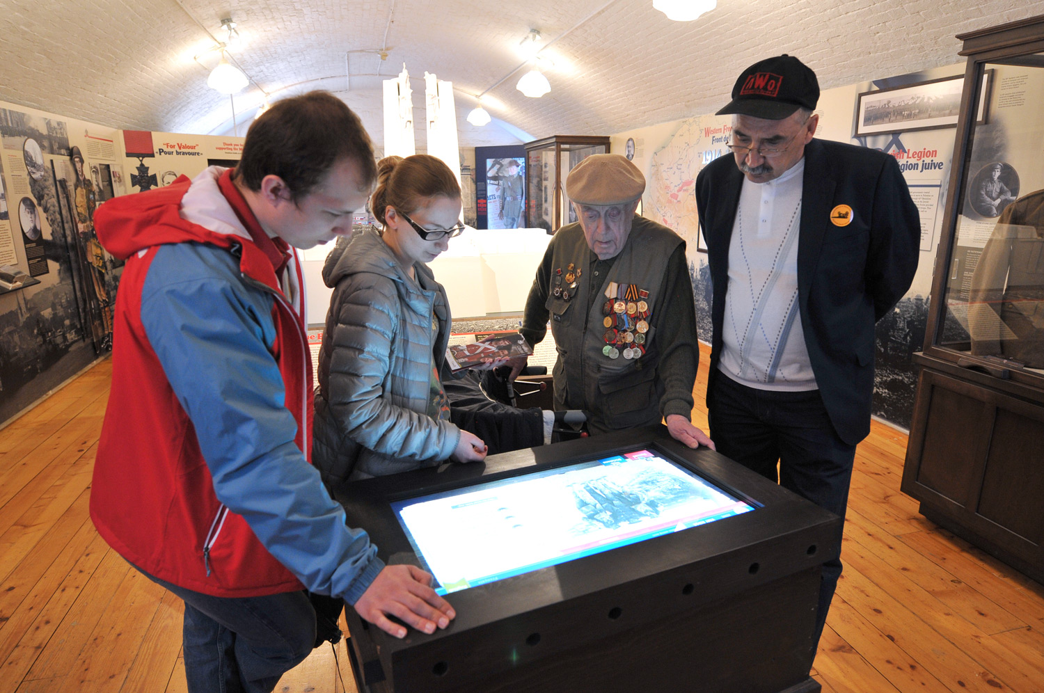 INTERACTIVE Located within a historic military building and surrounded by unique artifacts, the kiosk provides context for an exhibition that defined Canada as a nation.