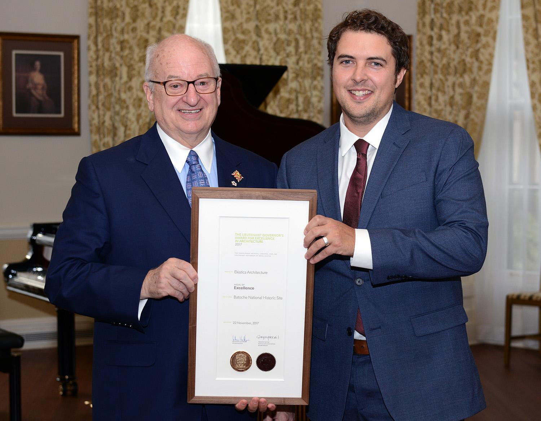 Honourable Arthur J. LeBlanc and Chris Crawford Photo:  Government House