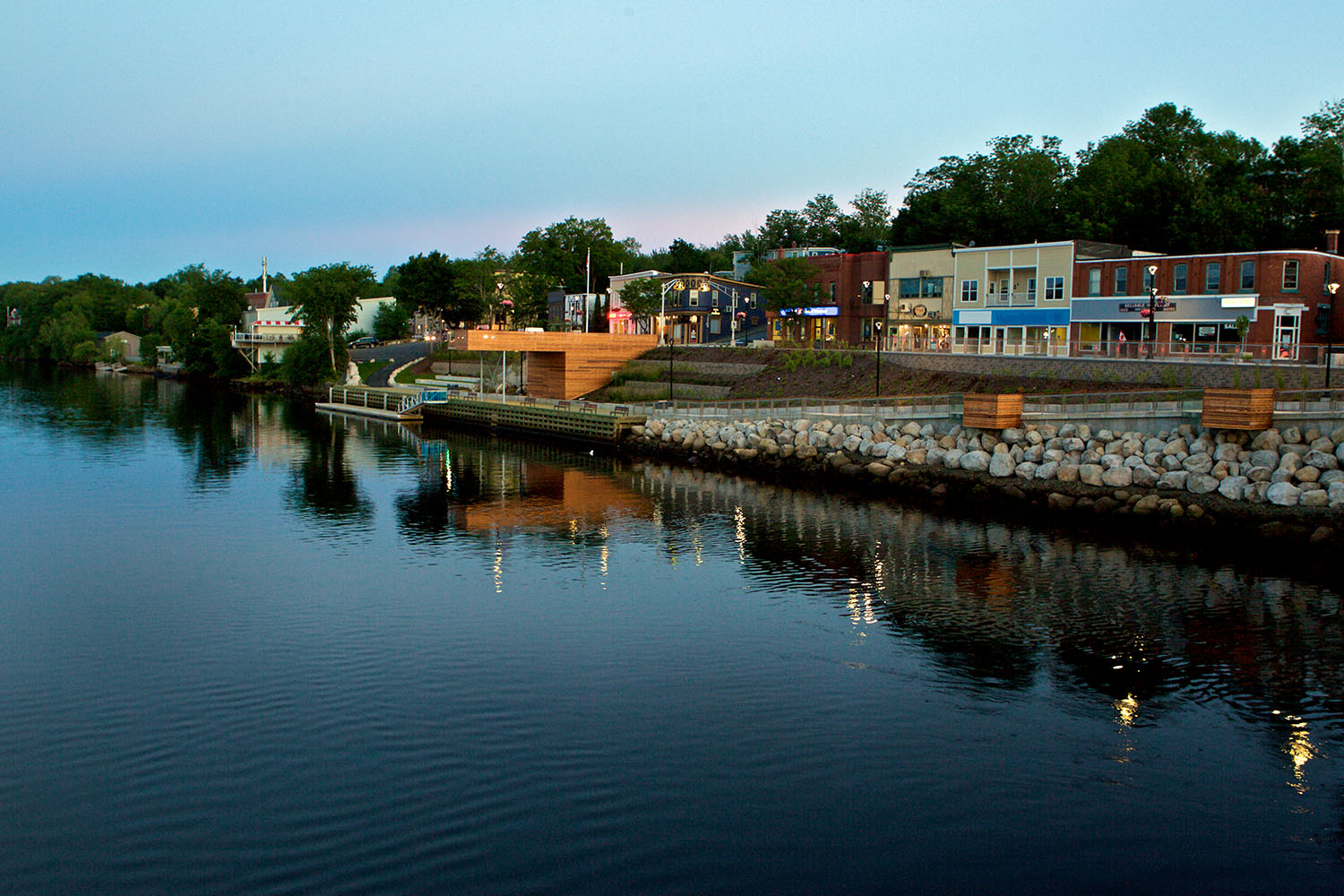 Views of downtown King Street and along the LaHave River once blocked by the parkade are now restored.