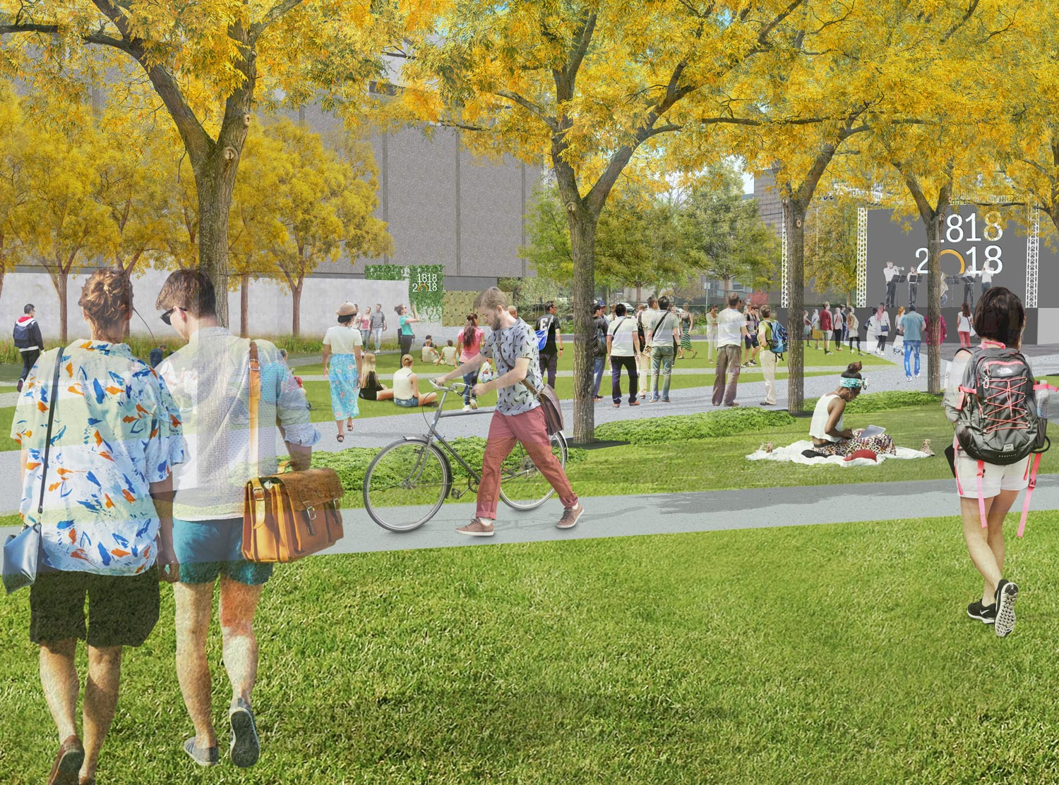 ACTIVE SPACES The common is now designed to be a venue for the Dalhousie Community to engage in events of all sizes including outdoor study, concert, rallies, recreation, art installations and relaxation.