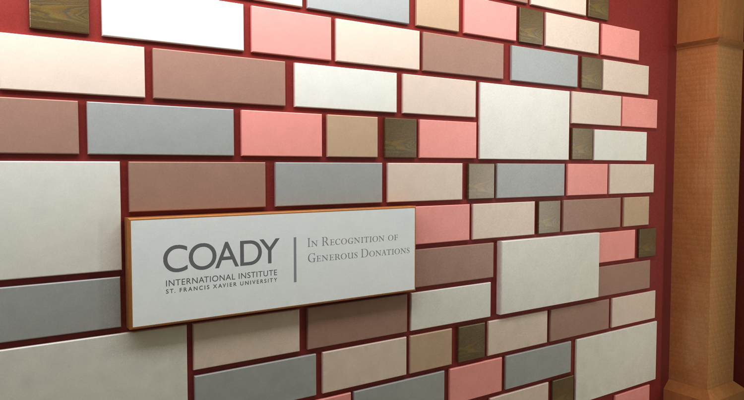 Donor recognition wall.