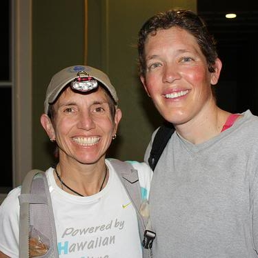 Sarah and Andrea at the start. Everyone is excited, but also more than a little nervous!  Photo by Ashley Waddell.