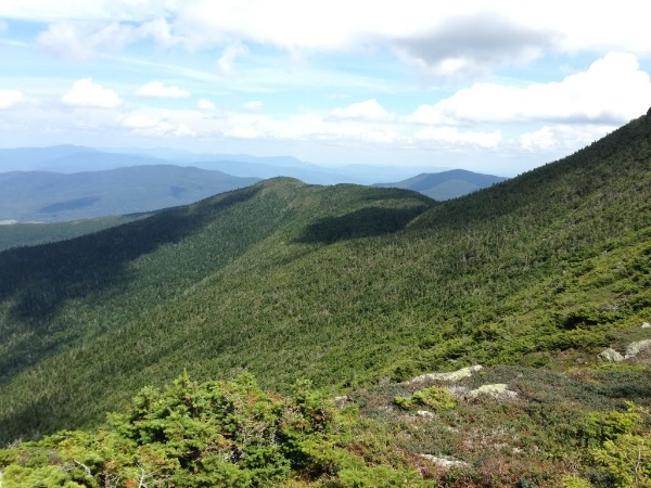 Looking north, not far below Mansfield's summit.