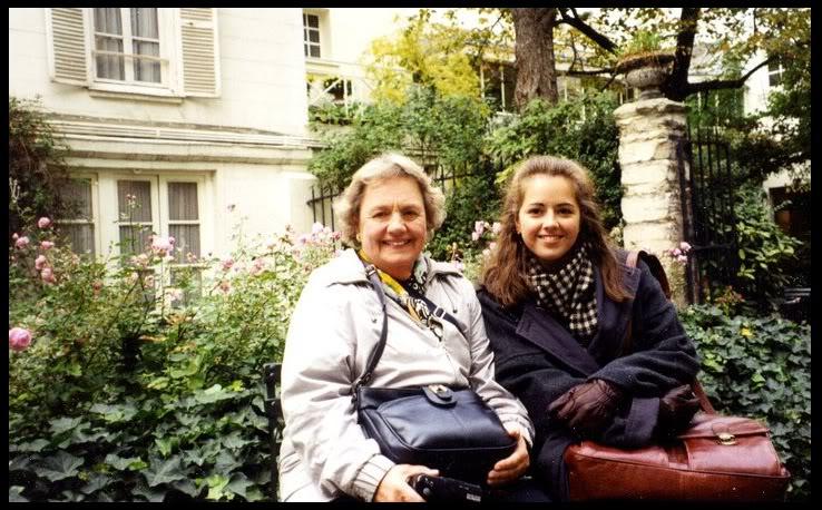 Grandma and me at Reid Hall, Paris, 1997.