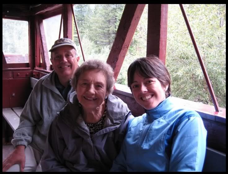 On the Georgetown Loop Railroad to celebrate Grandma's 83rd birthday. August, 2008.  Photo by my partner, Christi Brockway.