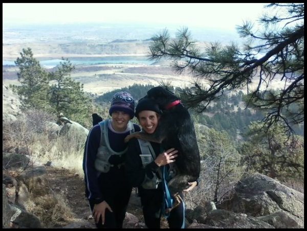 Ashley, Sarah & Roo, on our last long run before the HURT 100!