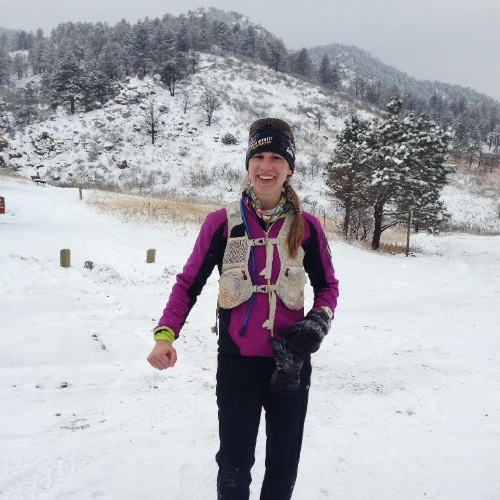 Jenn is the first woman through Arthur's, and looks ready to go another thirty miles.