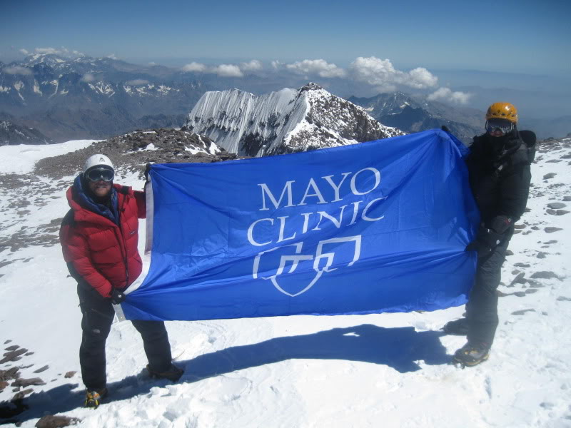 (Summit pic, Van Deren at right, courtesy of the Mayo Clinic)