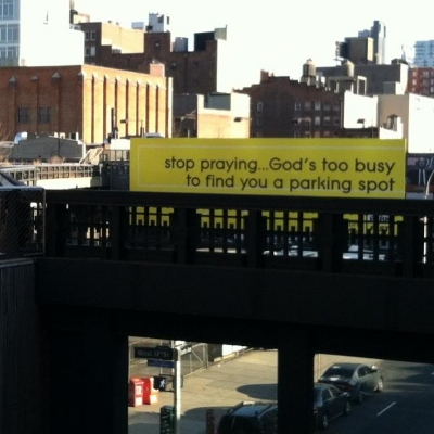 Sage advice, viewed from the High Line.