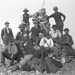 Firefighters at Baldy's summit in 1890.