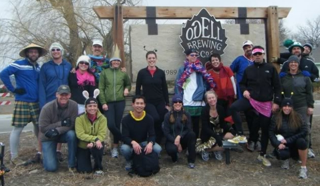 Happy runners at Odells.
