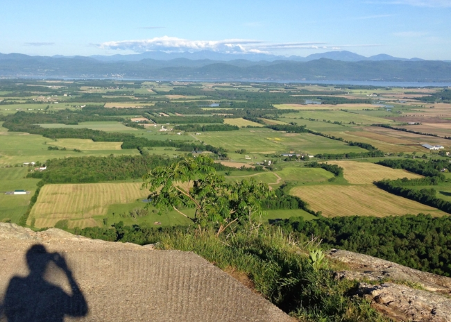 A gorgeous June day begins, from the top of Snake Mountain.