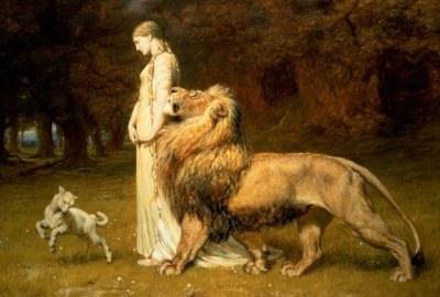"Briton Riviere, ""Una and the Lion"""