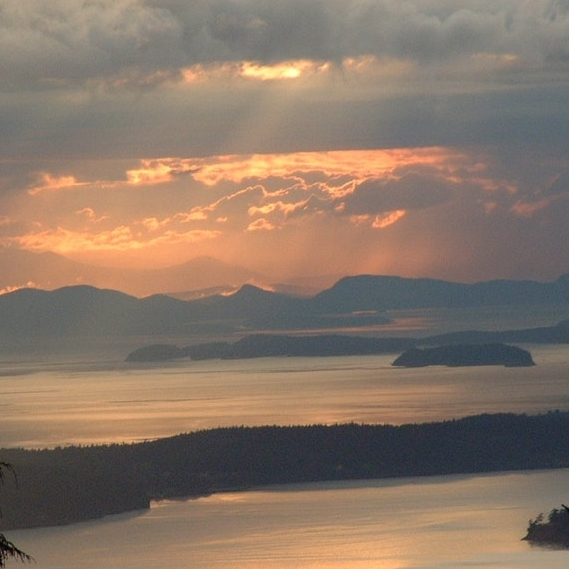 Sunset view in Larrabee State Park, courtesy of the Washington State Parks & Recreation Commission.