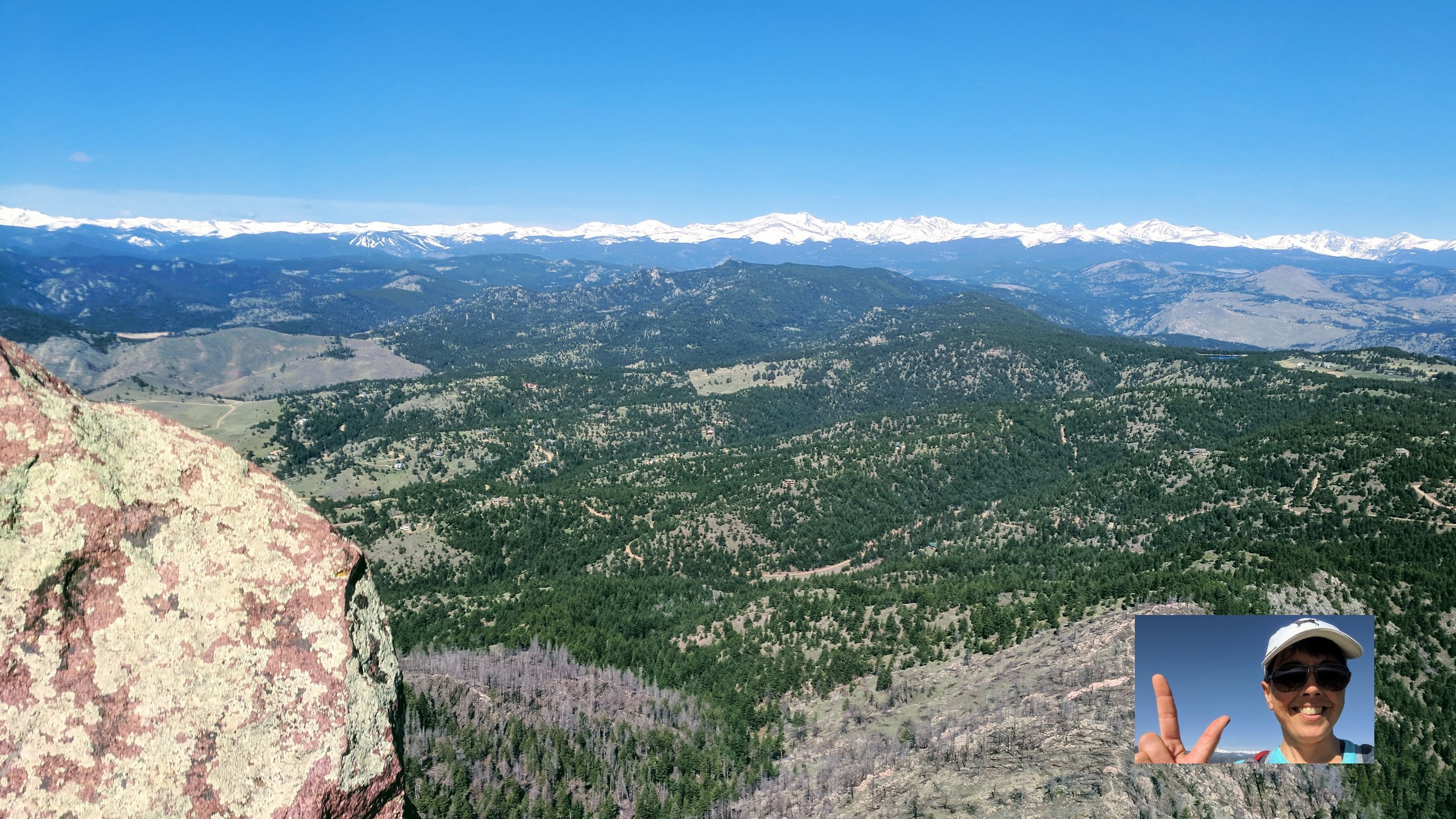 Two down, three to go! Another great view from Bear's summit, this time west toward the Continental Divide.