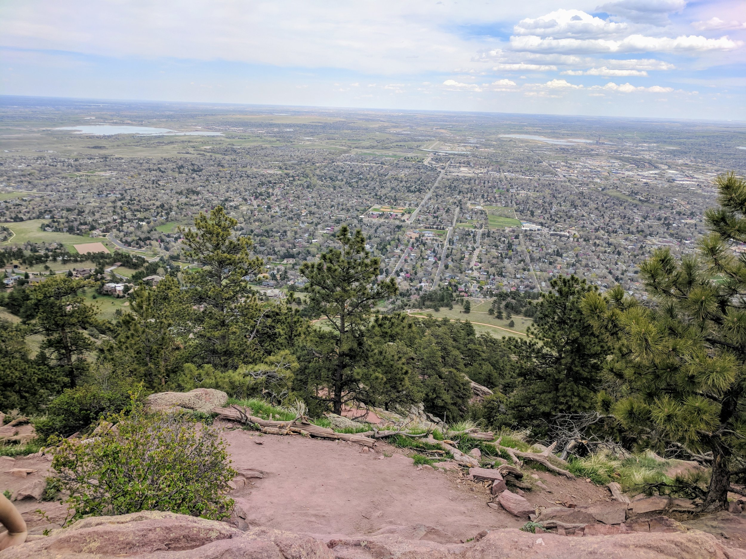 Nice view over Boulder, looking east.