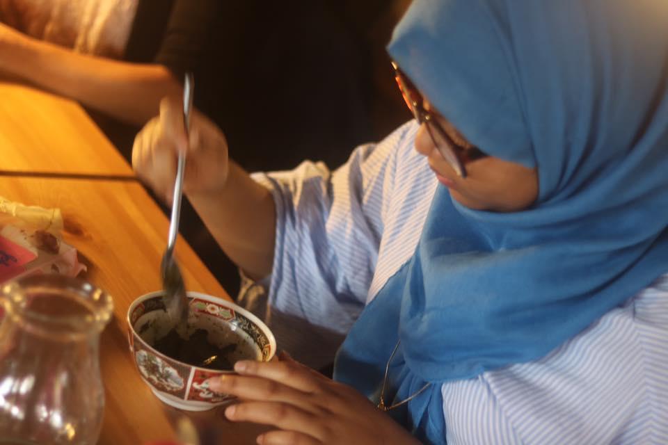 Mixing Henna Paste -