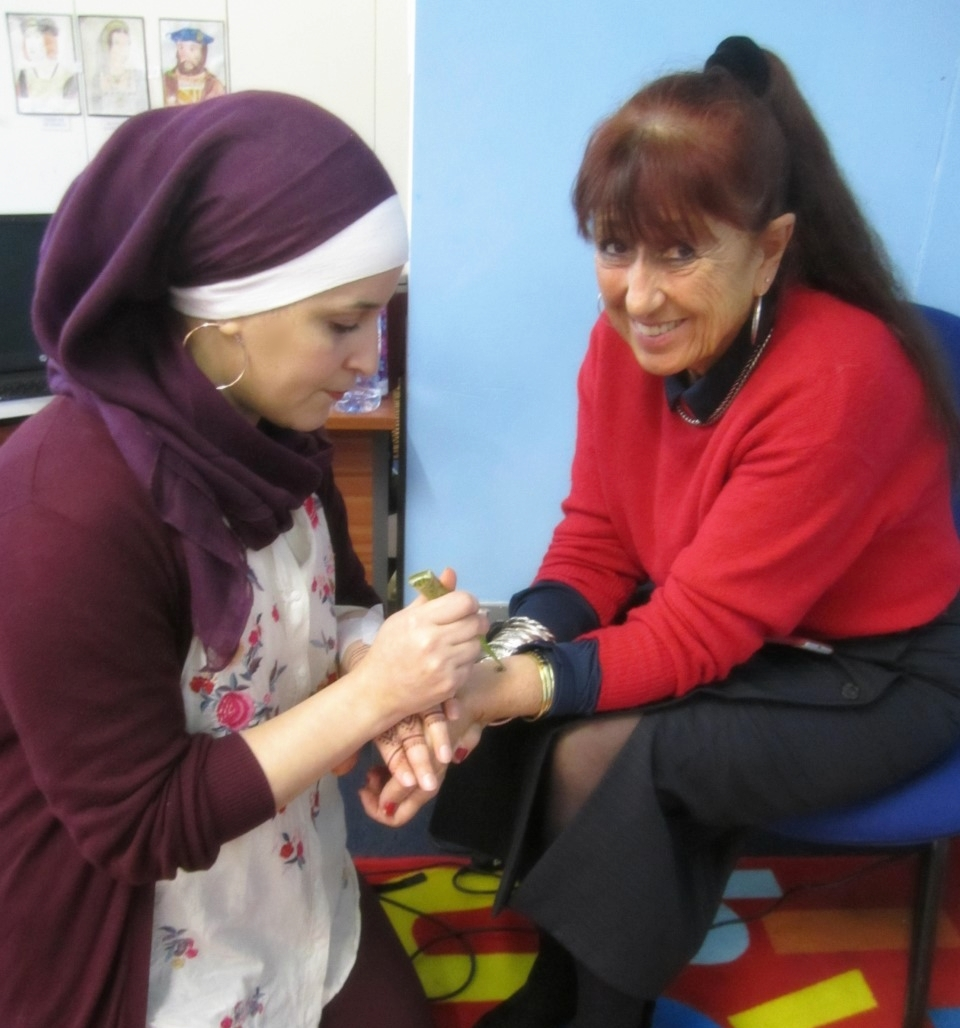 Henna Design for Headteacher Vanessa -