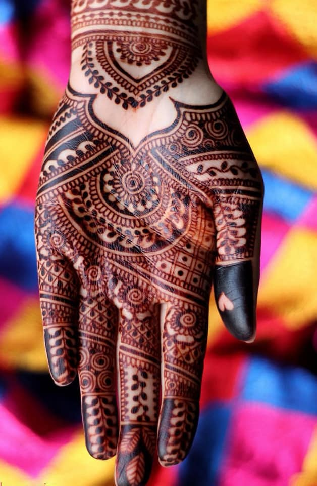"""This is the mature stain, 2 days after henna paste removal!"" - Mehndi by Monica, Birmingham. -"