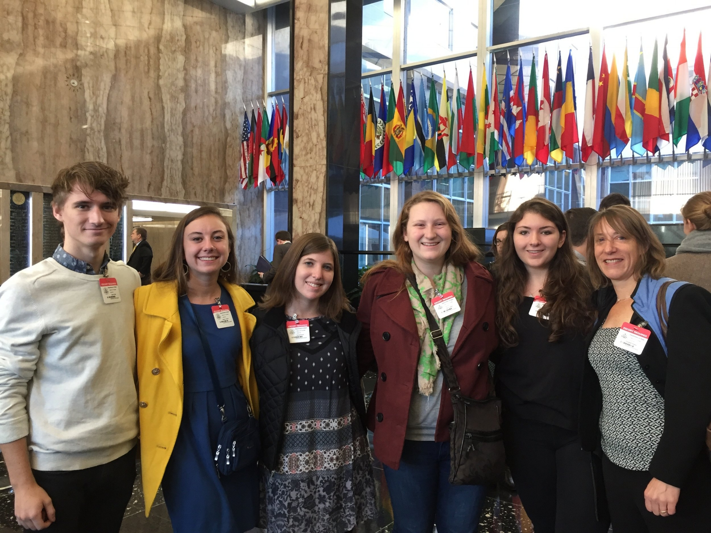 With  Who Owns Culture?  students at a meeting of the Cultural Property Advisory Committee, Department of State, Washington, D.C., October 2016