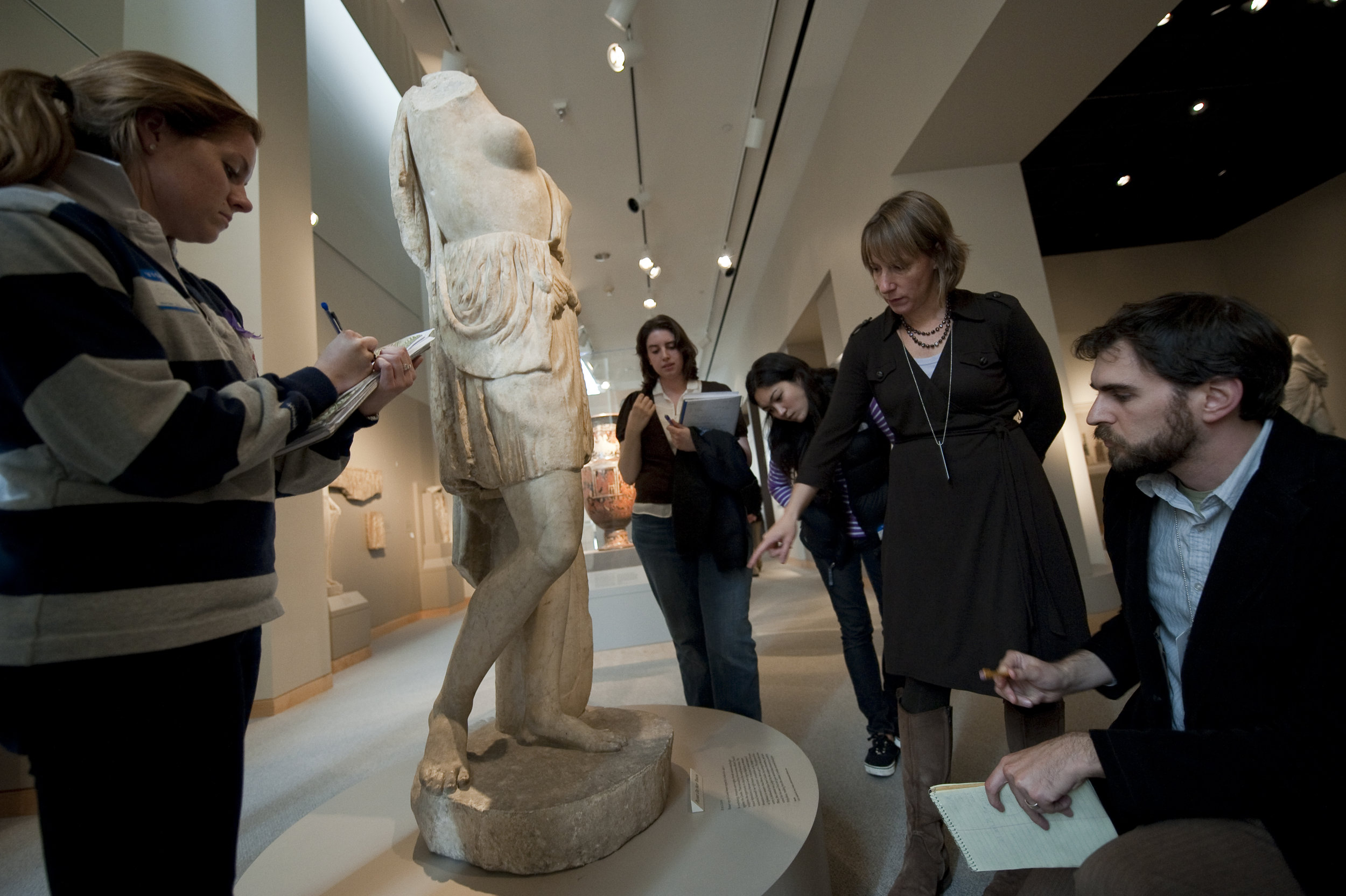 At the Walters Art Museum, Baltimore, with students and co-instructor Ben Tilghman.