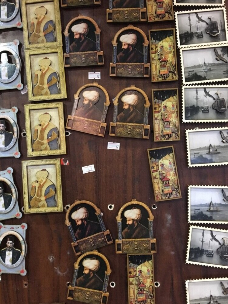 The afterlife of an image, in a gift shop in Istanbul