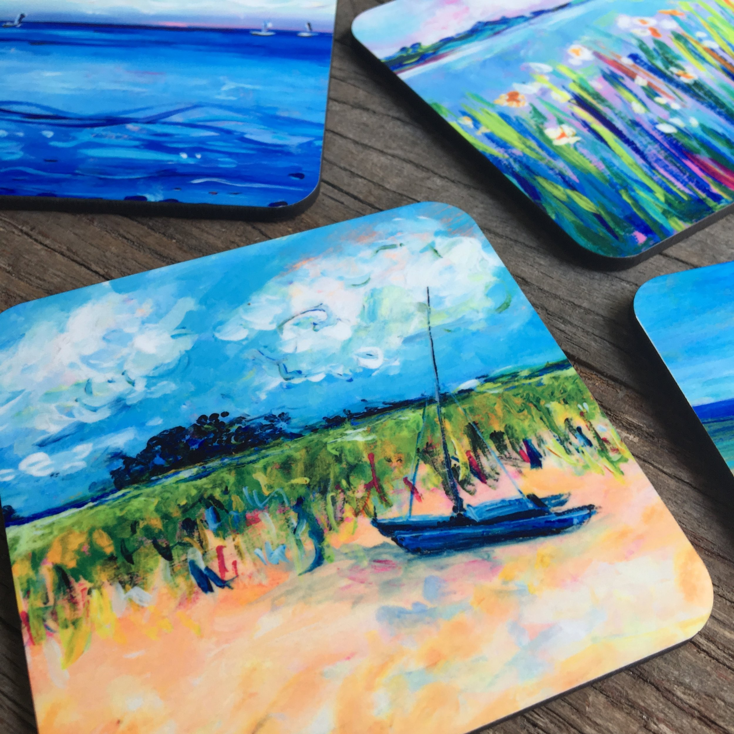 Products - Bring the feeling of the lake home with these high quality accessories. Browse our product collection all featuring Michelle Brunner's unique and colorful artwork.
