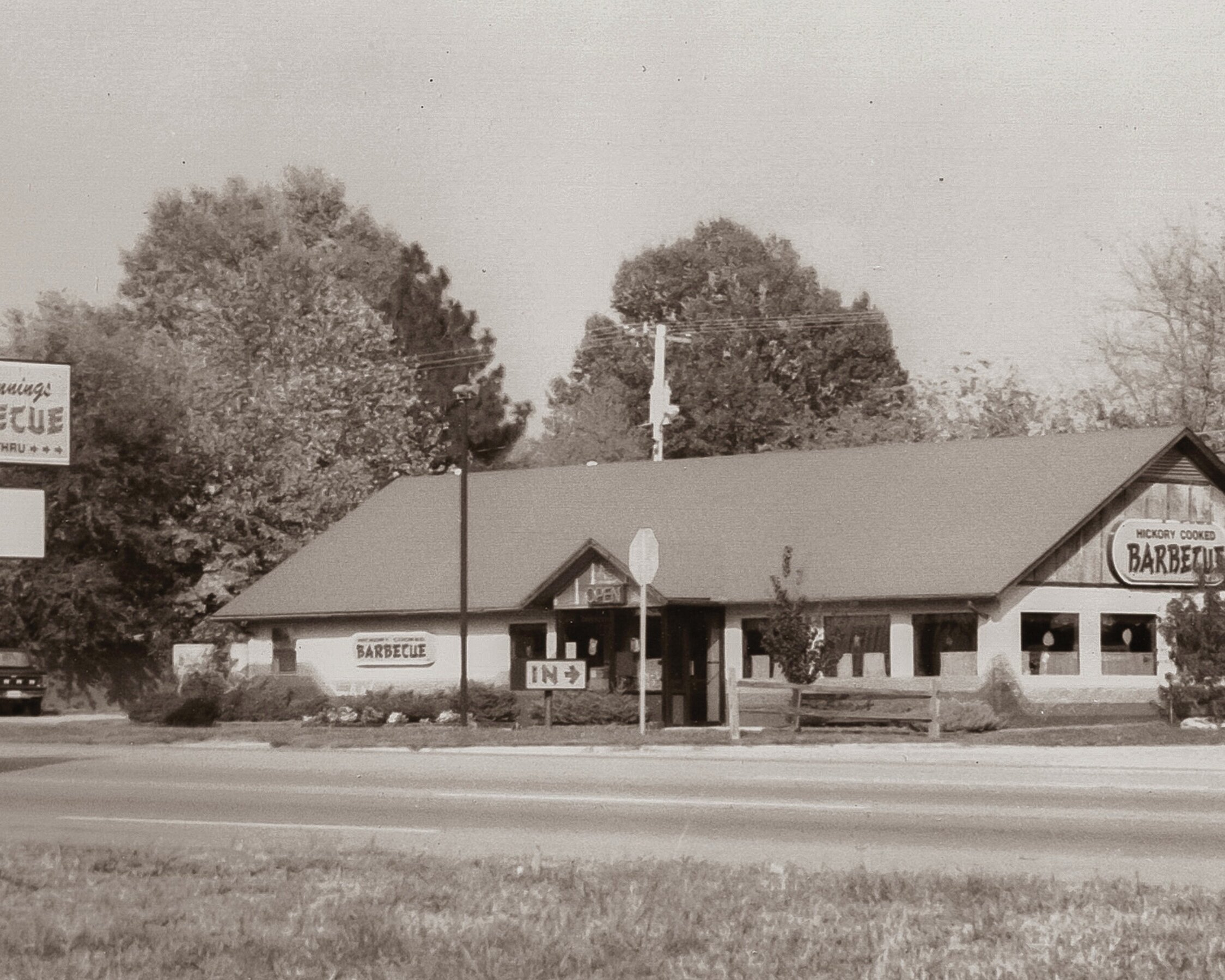 1988 - THE VERY FIRST AL LOCATION OF RICK'S BARBECUE OPENED IN 1988 AT 205 WOODWARD AVE. MUSCLE SHOALS, AL, 35661.