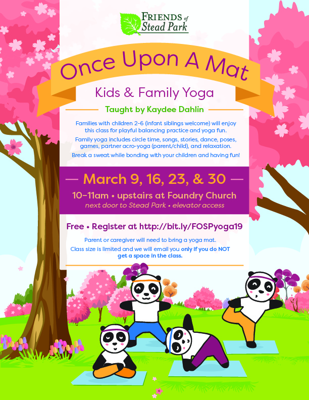 Once Upon A Mat Yoga For Kids Families Session 4 Friends Of Stead Park