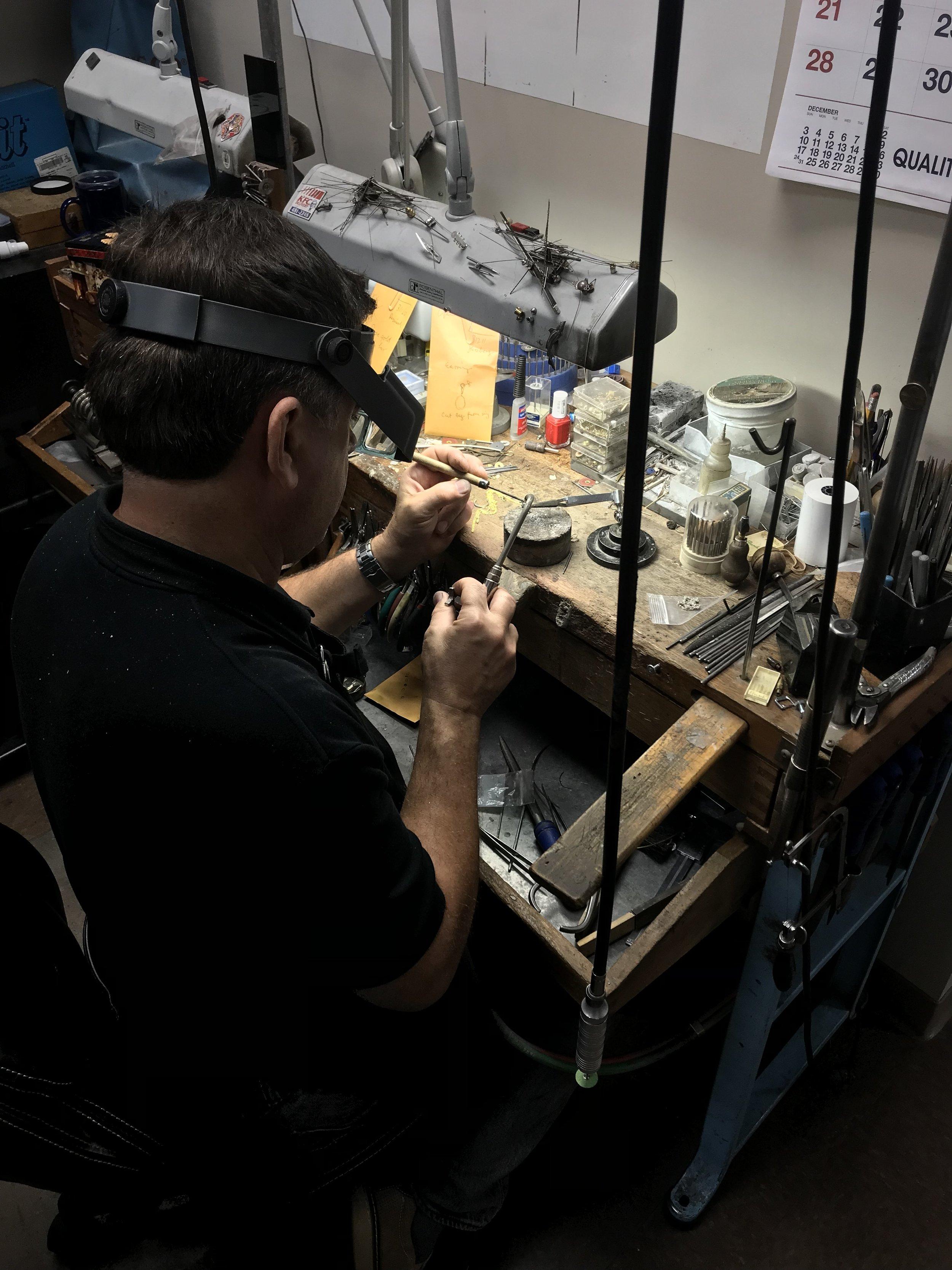 Jewelry Repair - We offer a full spectrum of jewelry repair on all types of jewelry.