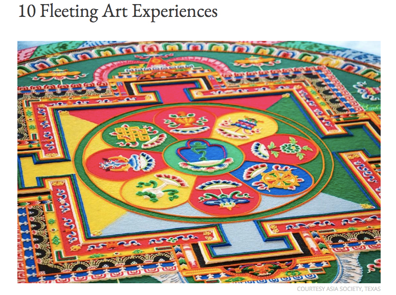 10 Fleeting Art Experiences - by Cynthia Close