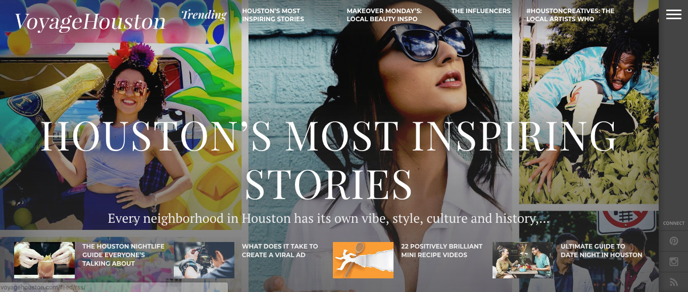 From  Voyage Houston's home page . Read up here on what artists, writers, thinkers and makers-in-general are doing all over town.