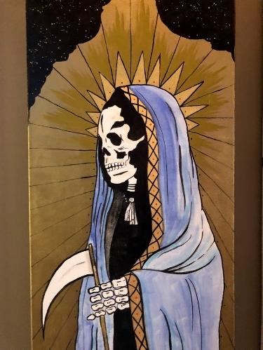 Santa Muerte by Madeline Music. Taken by Janelle Lassalle