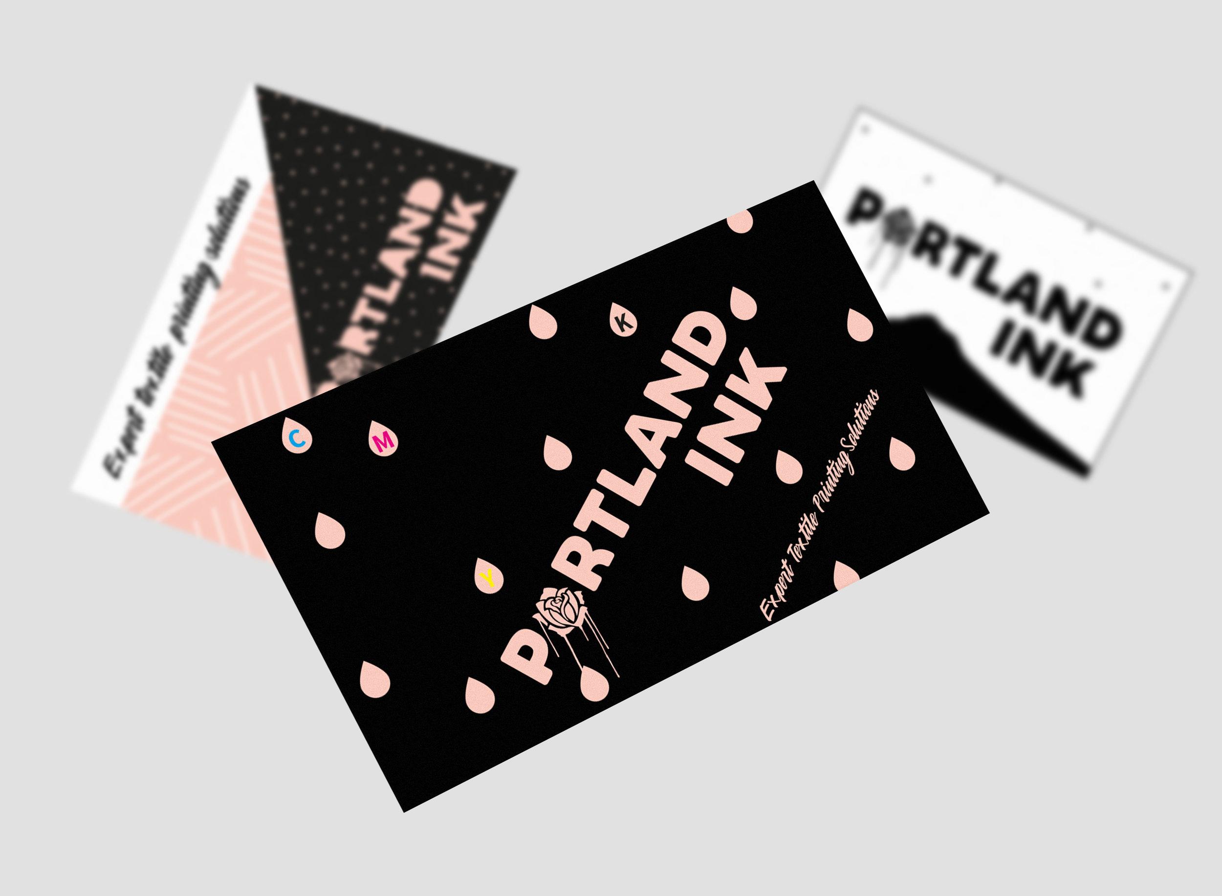 Portland Ink business card design concepts.