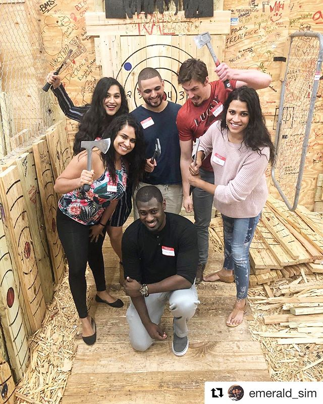 Make it a triple date. 🎯🎯🎯 — #ral #raideraxelodge #axethrowingtampa #axethrowing #axethrower #tampa #tampabay #tampadatenight #teambuilding