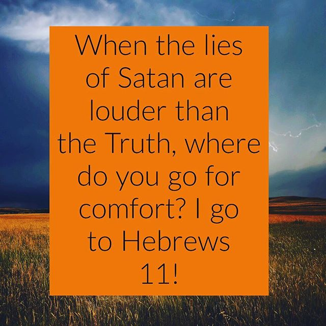 When Satan tells you that you can't do something or you're not good enough, where do you go to combat his lies? I go to Hebrews 11. I call this the Heroes of the Faith chapter. Where do you go? Is it a particular worship song or a verse of Truth and inspiration? Share with us.  #crashmovement#kingdomvschurch#loveyourneighbor#community