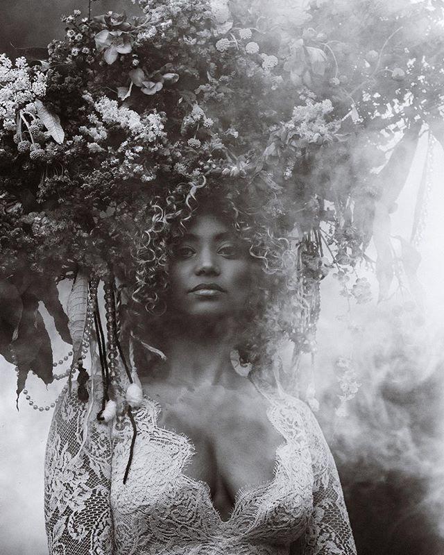 """The art of life lies in a constant readjustment to our surroundings."" Kakuzo Okakura🌿⠀ ⠀⠀ Model @ownbyfemme⠀⠀ Photographer x Floral Designer @alenamealy⠀⠀ Stylist @jyotisha_⠀⠀ Makeup @sashaglasser⠀⠀ Production @danicakennedy⠀"