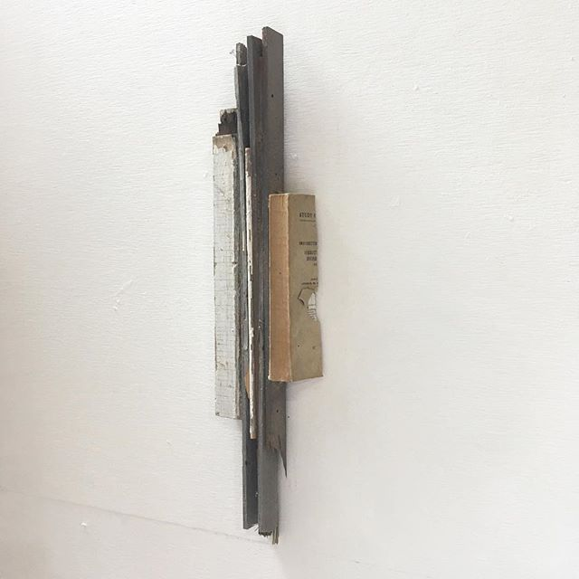 """""""A study of the monopoly of power, cut in half""""  mixed media 24x9x2"""""""
